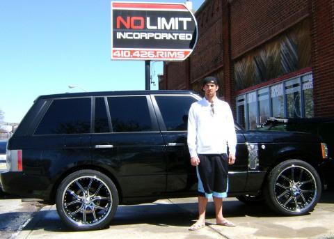 Michael Phelps Range Rover