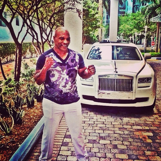 Luxury Car Rental In Miami >> Mike Tyson Travels Like a King | Celebrity Cars Blog
