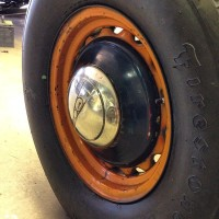Mike Wolfe 36 Ford Gulf Oil Delivery Truck wheel