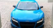 Nyjah Huston Blue Audi R8