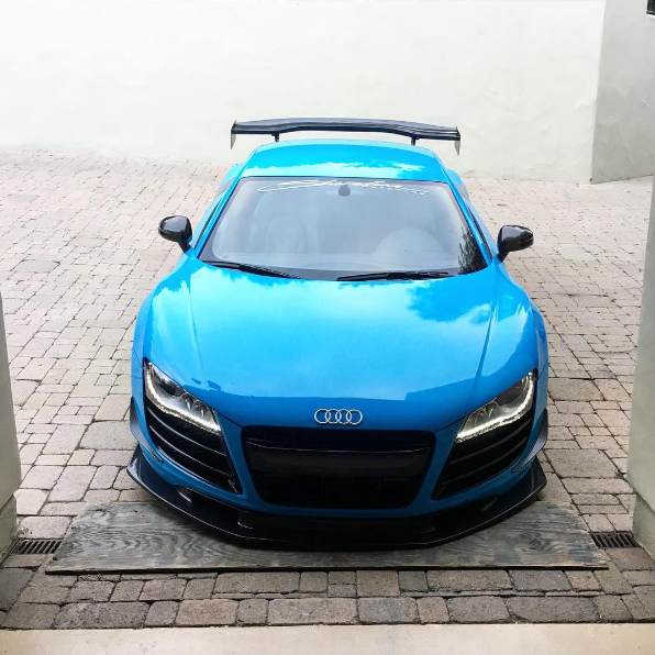 Nyjah Huston Blue Audi R8