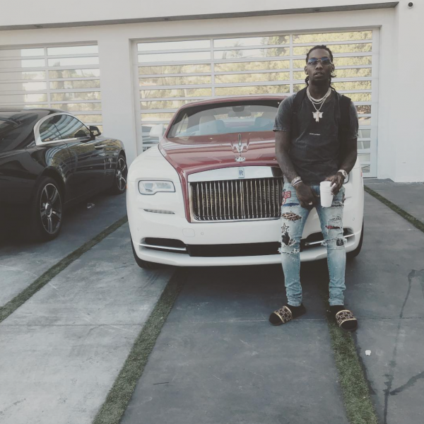 Offset Has a Sweet Rolls Royce Wraith