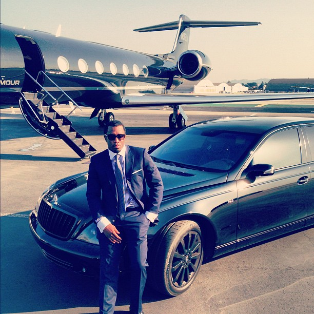 P. Diddy Means Business In His Blacked-Out Maybach | Celebrity Cars