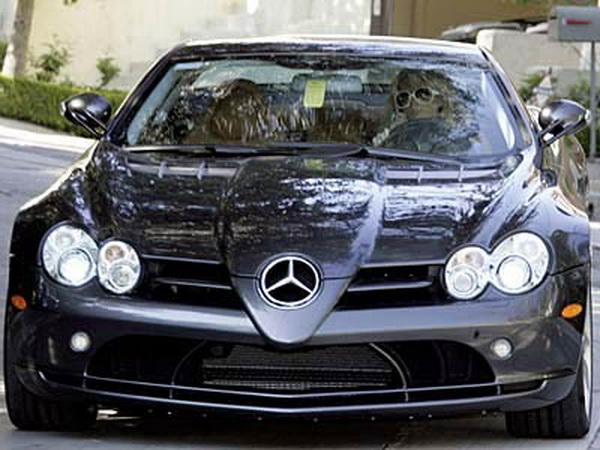 Paris Hilton Mercedes SLR