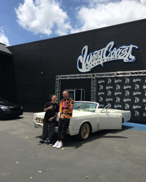 photo of Post Malone Old School Lincoln Continental - car
