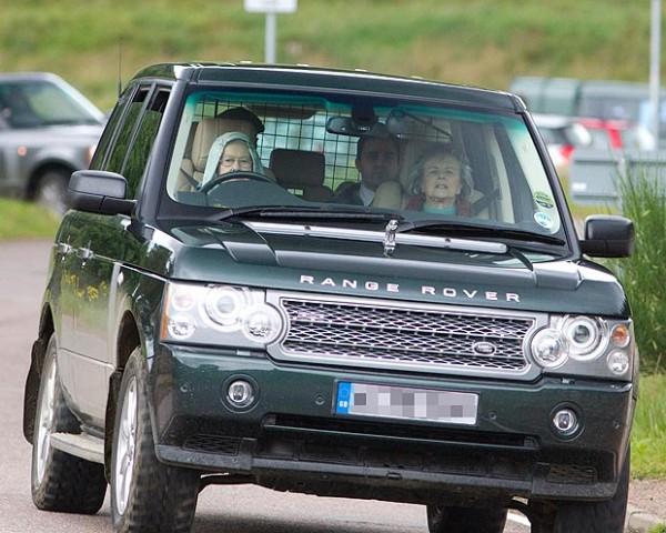 Queen Elizabeth Range Rover