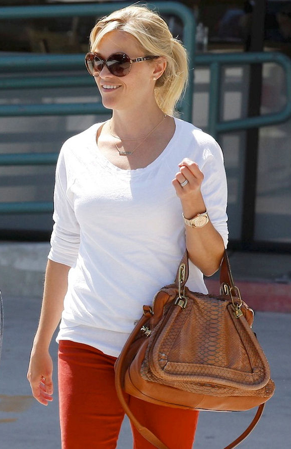 Reese Witherspoon Chloe Python Paraty Celebrity Handbags
