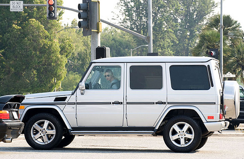 Renee Zellweger Drives a Mercedes G Wagon