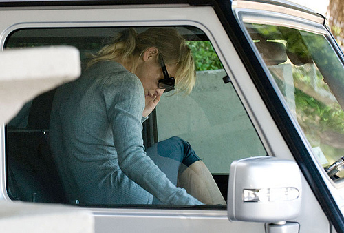 Renee Zellweger Changing In Her Mercedes G Wagon