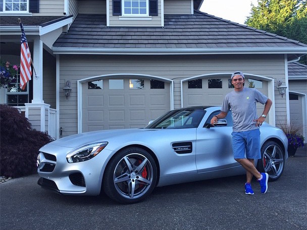 rickie fowlers rolling in a new mercedesbenz amg gt s
