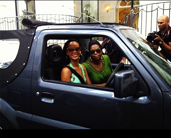 Oprah Car Giveaway: Rihanna And Oprah Go For A Spin