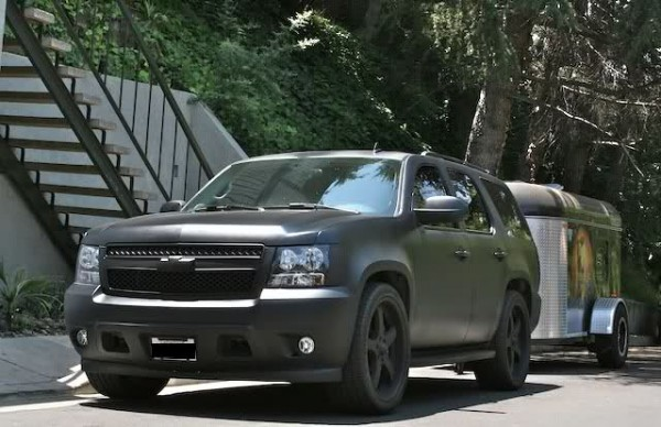 Professional Skateboarder Rob Dyrdek S Murdered Out Chevy Tahoe