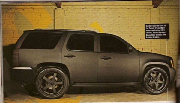 Rob Dyrdek Murdered-Out Chevy Tahoe Sideshot