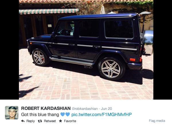 Rob Kardashian G Wagon