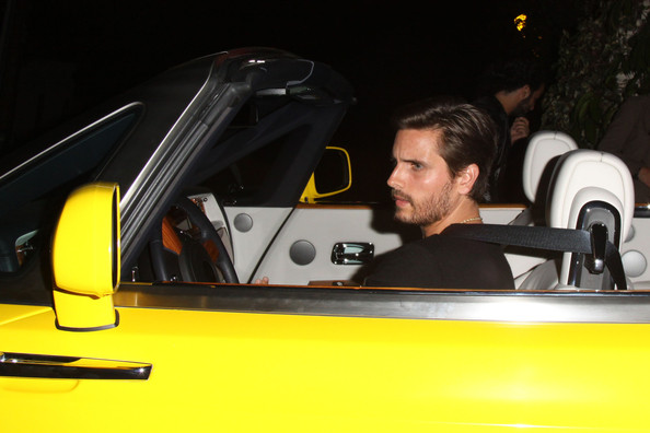Scott Disick Yellow Rolls Royce