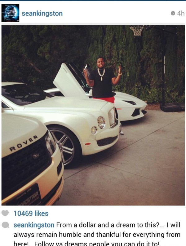 Sean Kingston Lamborghini