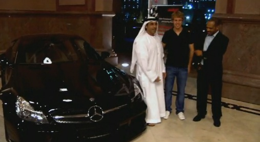 Sebastian Vettel and a Mercedes Benz SL-65 AMG Black Series