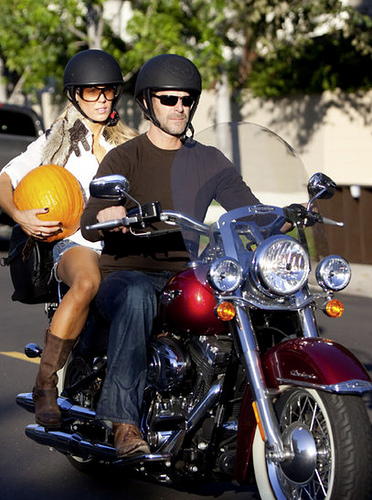 Slade Smiley and Gretchen Rossi Riding on Motorcycle