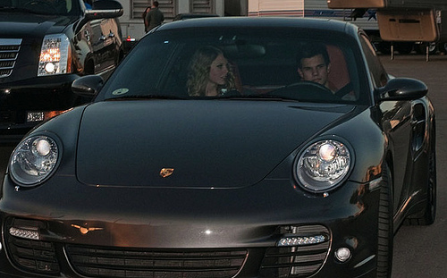 Taylor Lautner Takes Taylor Swift Out In The Porsche Turbo