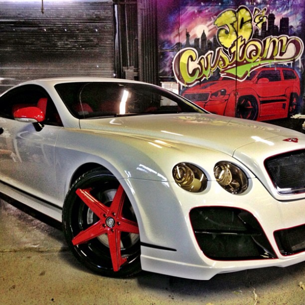 One For The Ladies Bentley Continental Gt Pink: The Game Gives His Bentley GT A Makeover