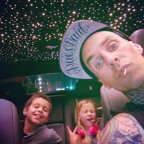 Travis Barker Rolls Royce Selfie
