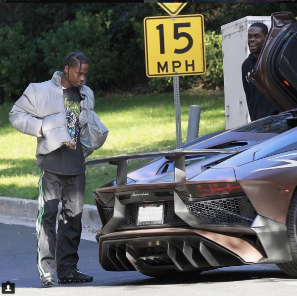 Travis Scott Customizes His New Aventador
