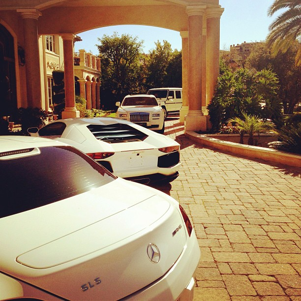 Tyga Shows Off His Ridiculous Driveway | Celebrity Cars Blog