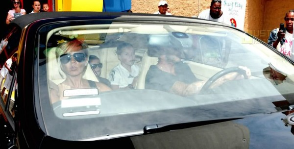 Victoria Beckham Bentley Continental and David Beckham