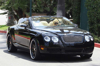 Victoria Beckham's Topless Bentley