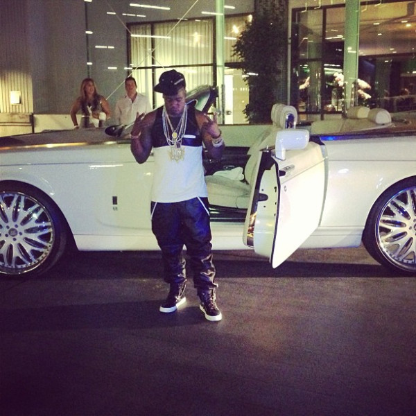 Yo Gotti Getting out of his Rolls Royce Coupe