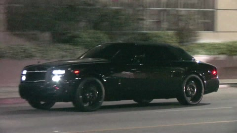 Beckham Fully Blacked Out Rolls Royce