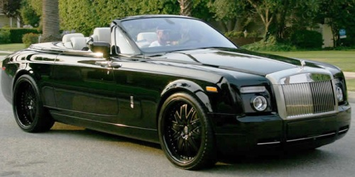 David Beckham's Rolls Royce Drophead Coupe
