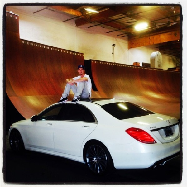 colin mckay sitting on danny ways mercedes S550