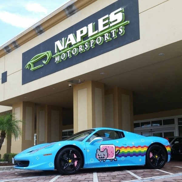 deadmau5 39 s purrari is ready for the gumball 3000 kickoff. Black Bedroom Furniture Sets. Home Design Ideas