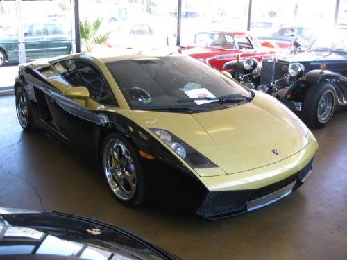 Dennis Rodman S Black And Gold Lamborghini Gallardo Celebrity Cars