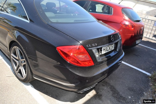 Kim Dotcom CL63 Hacker license plate
