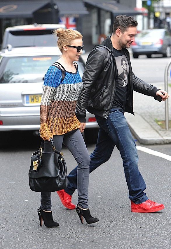 Kylie Minogue carries Dolce & Gabbana