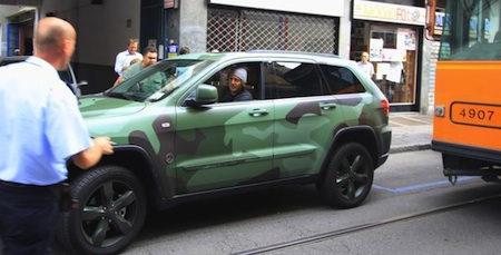 Lapo Elkann Moving his Jeep