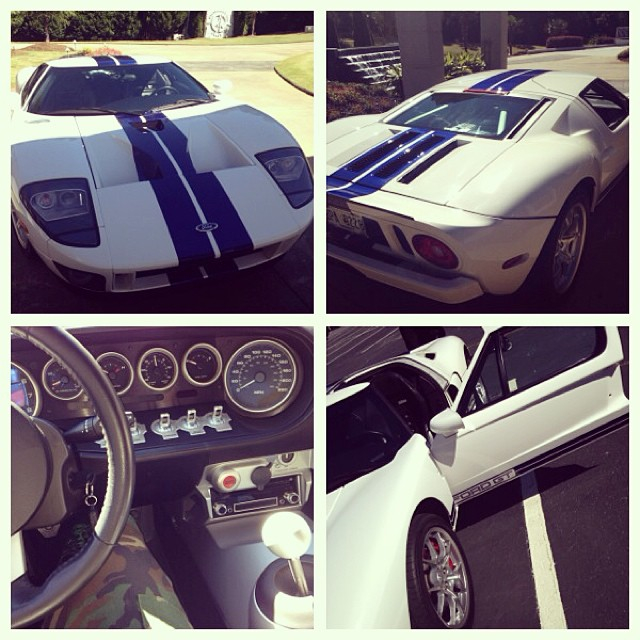 Ludacris Out Stretching The Legs Of His Ford GT