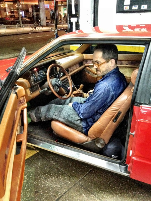 Mark McNairy in his Maserati Biturbo