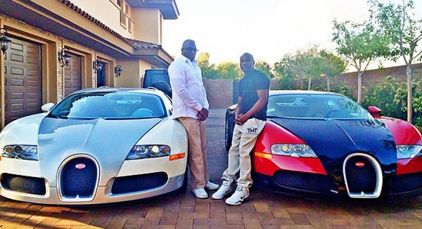 mayweather with 2 veyrons