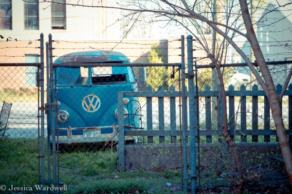 Mike Wolfe blue VW Panel Van