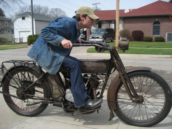 Mike Wolfe on a Rusty Motorcycle