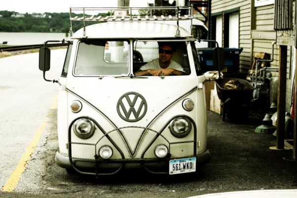 Mike Wolfe in his VW VAN