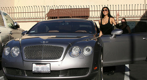Nicole Scherzinger Rocking the body and the Bentley