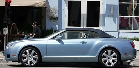 Paris Hilton Bentley Continental GTC