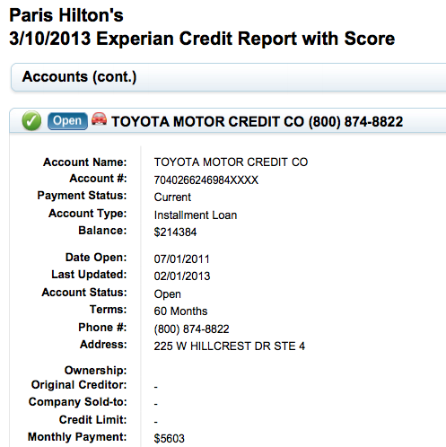 paris hilton lfa loan