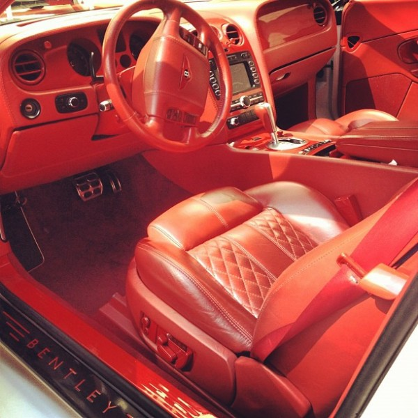 Sean Kingston Bentley with Red Interior