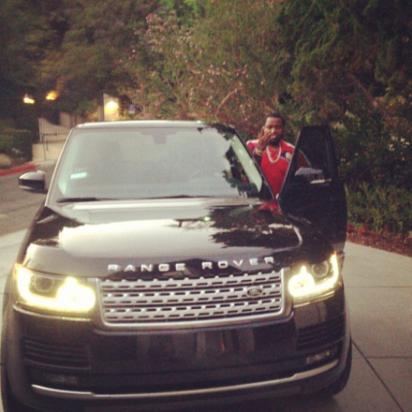 sean kingston black range rover
