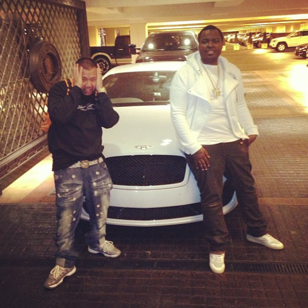 sean kingston while bentley continental GT Coupe